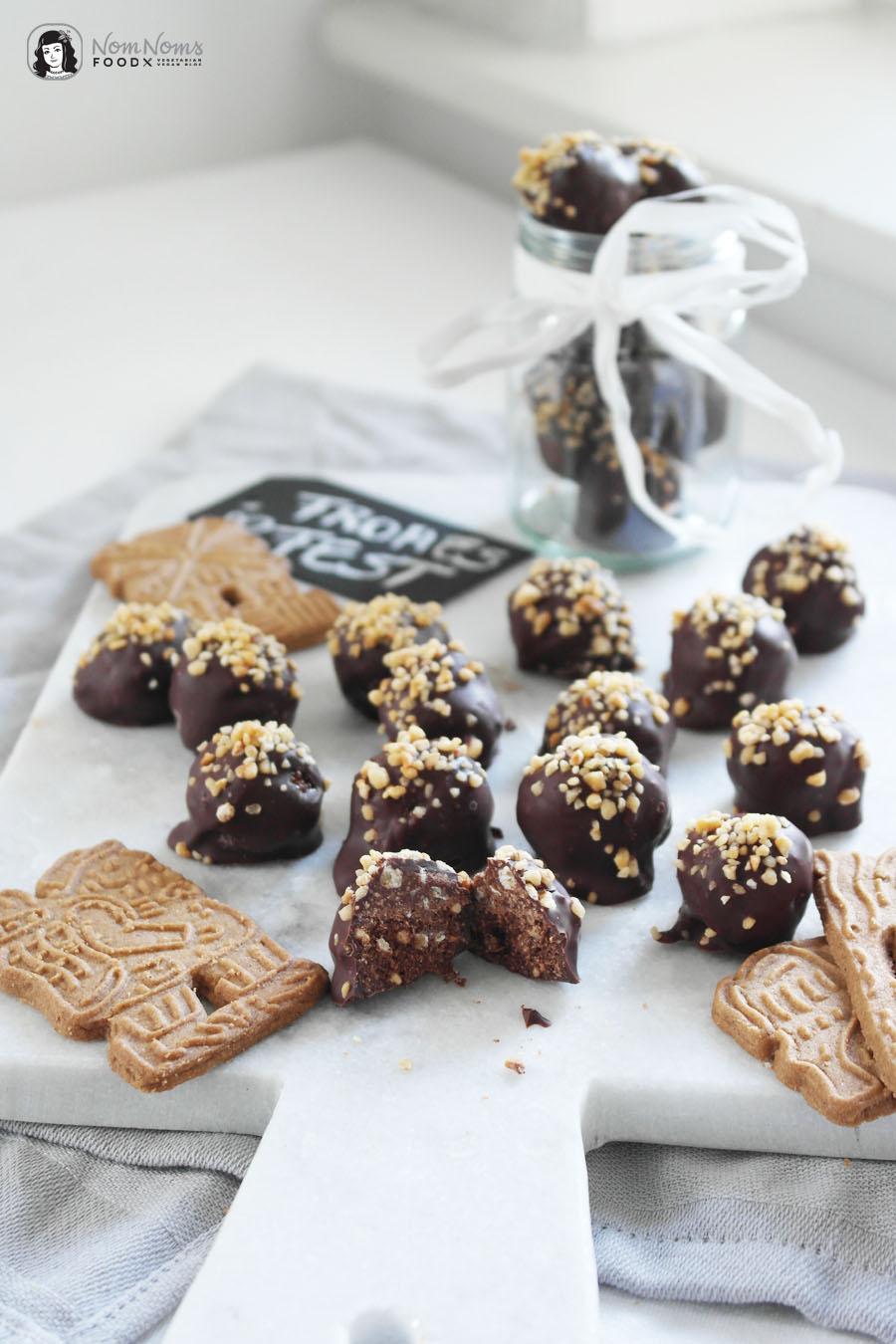 Knusprige Krokant-Spekulatius-Schokoladen-Pralinen