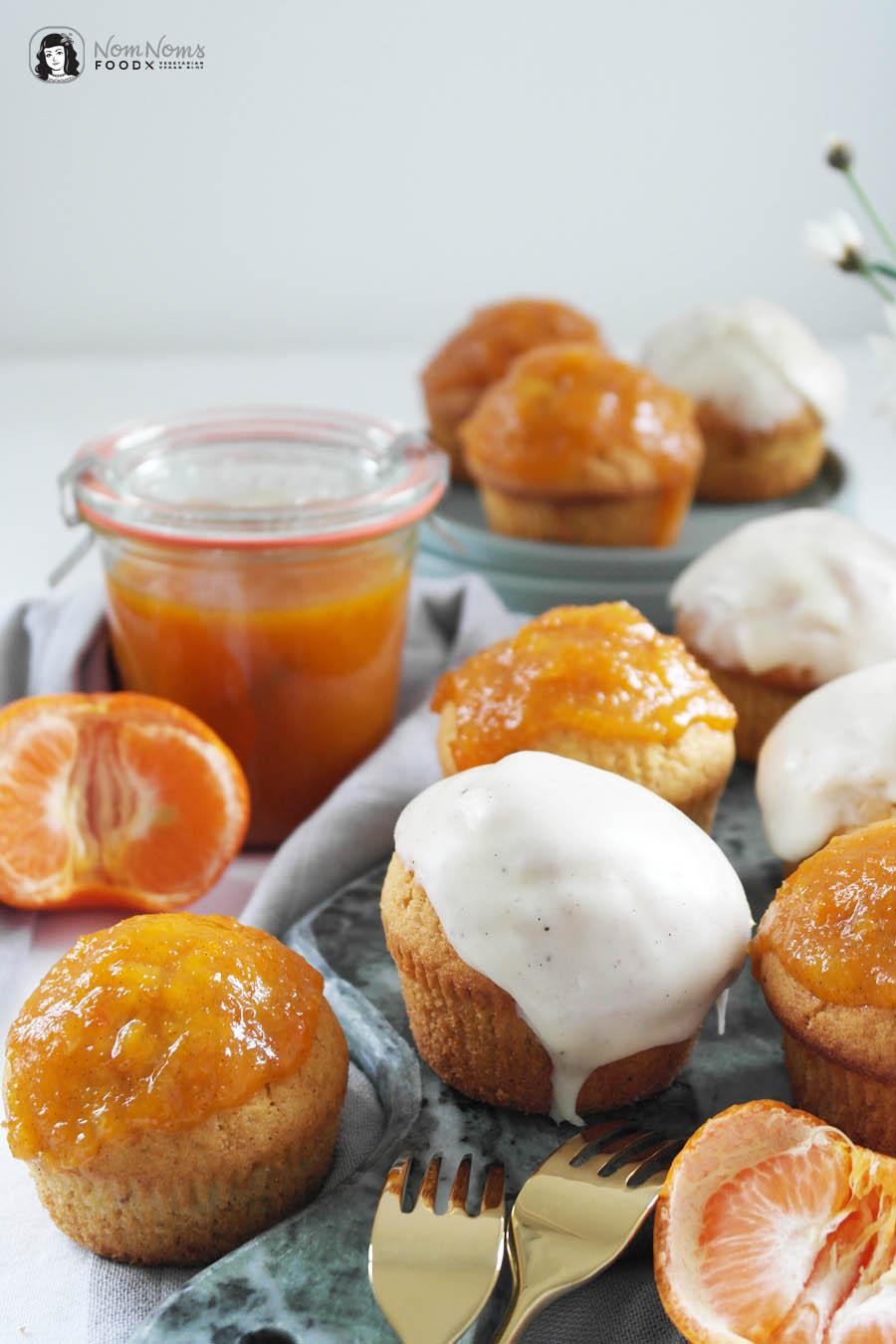 Donut-Muffins mit Mandarinen-Vanille-Marmelade