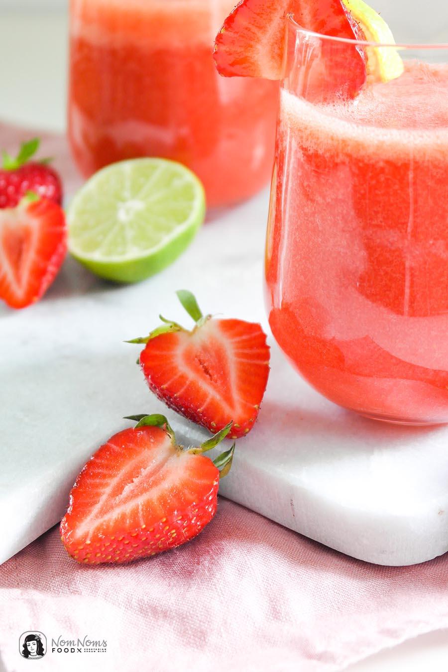 Alkoholfreier Erdbeer-Margarita-Mocktail Cocktail