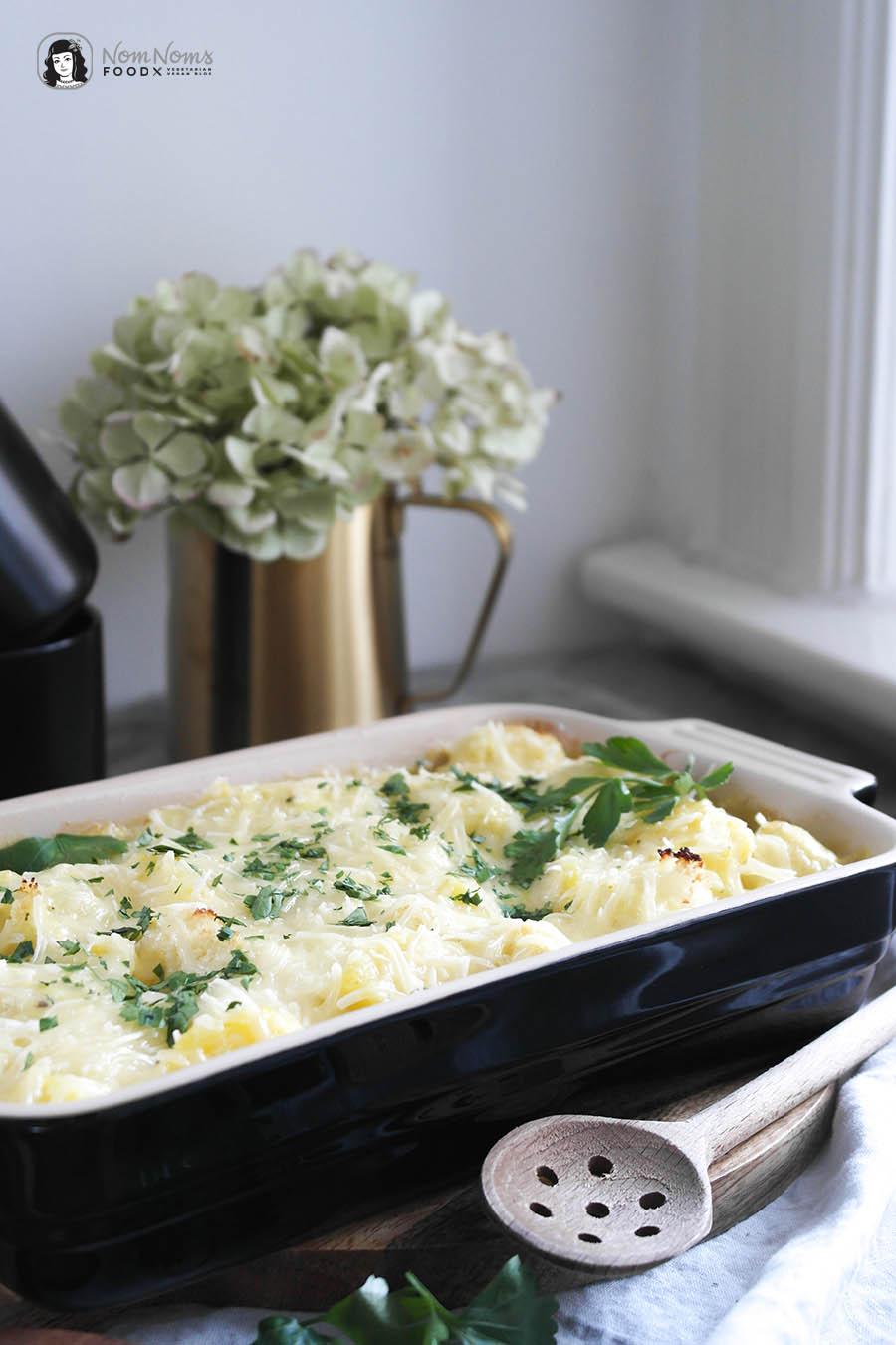 Cremiger und veganer Blumenkohl-Kartoffel-Auflauf Veganuary Veganuar