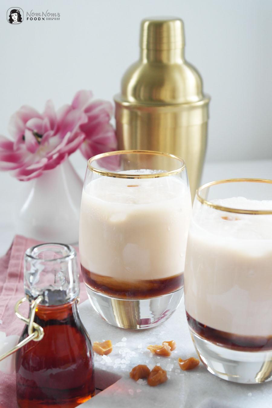 Cremiger Kaffee-Cocktail mit Salted Caramel und Creme Likör
